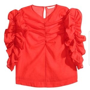 """H&M Tops - Gorgeous """"Georgette"""" Rouched H&M Blouse"""